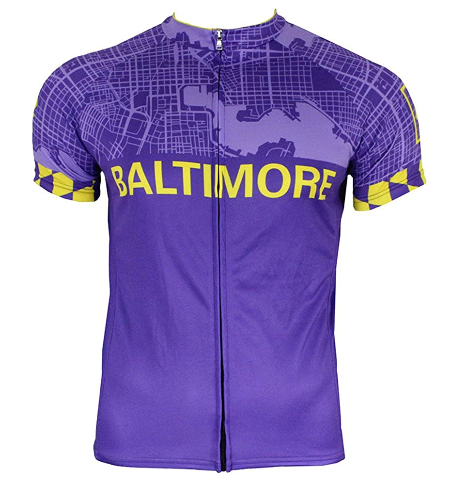 Amazon.com  Hill Killer Baltimore  Charm City  Men s Cycling Jersey   Clothing 65f06edeb