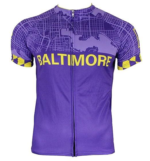 Amazon.com  Hill Killer Baltimore  Charm City  Men s Cycling Jersey ... c8b24cd7b