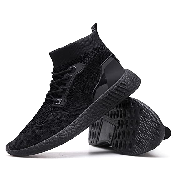 ❤ Zapatilla de Deporte para Hombres, Hombre de Moda High Help Soft Sole Zapatillas de Running Zapatos de Gimnasia Calcetines Zapatos Absolute: Amazon.es: ...