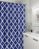 Large Shower Curtains Geometric Patterned Waterproof 100% Polyester Fabric Shower Curtain for Bathroom 72