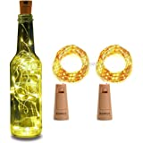 XERGY Bottle Lights Battery Powered, Cork Shaped Fairy String Starry DIY, Party, Decor(Pack of 2) (20LED, 2 Meters) Christmas NYE Decoration Lights