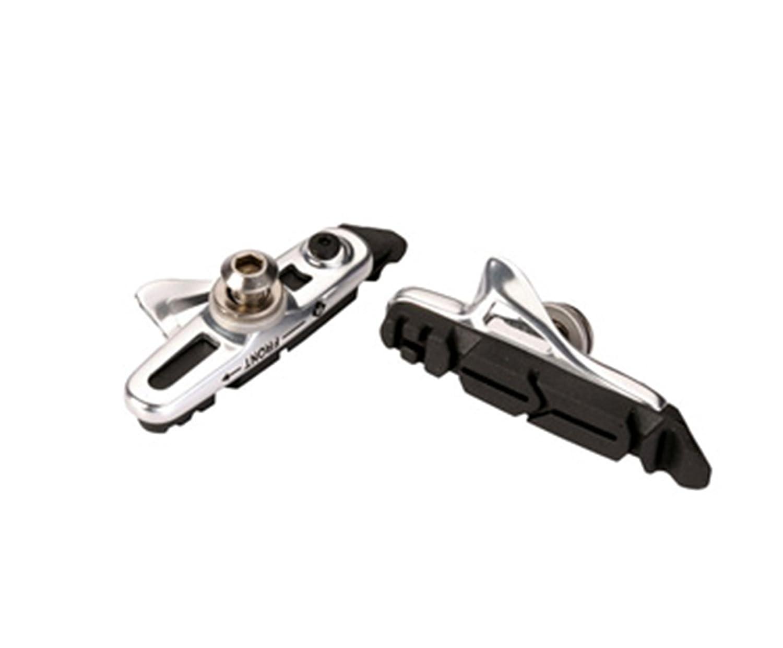 ONOGAL 2X Zapatas Cartucho de Aluminio Plata Ajustables Ashima compatibles con Frenos Shimano para Bicicleta de Carretera 3535