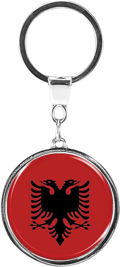 Accessori per Portachiavi Regalo Souvenir Souvenir Portachiavi in Metallo Vetro Cristallo apribottiglie Bandiera Albania