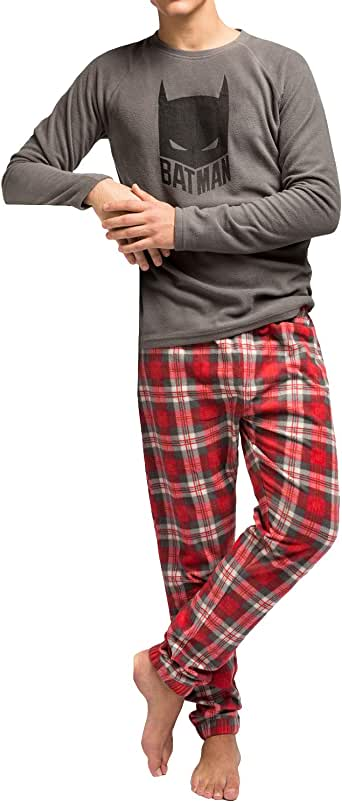 Pijama Hombre Micropolar Batman (XL, Gris): Amazon.es: Ropa y accesorios