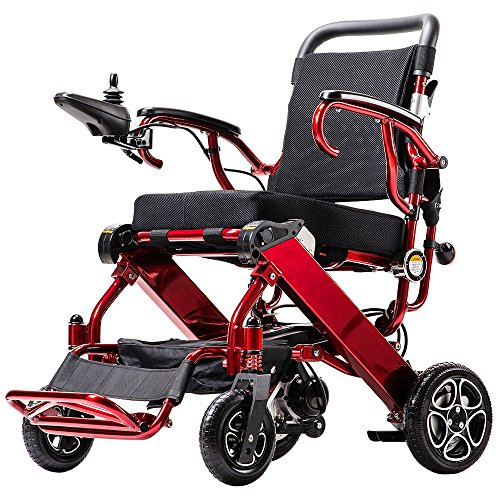 Power Wheelchair Custom (2018 NEW FDA Approval Electric Wheelchair - weighs only 50 lbs with battery - supports 330 lb. New upgraded with more secure and stable.Power Chair Custom Made available)