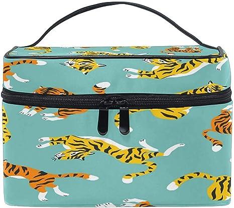 Estuche de Maquillaje de Viaje portátil Animal Tiger Bolsa de cosméticos para Pinceles de Maquillaje Accesorios de joyería Accesorios Digitales: Amazon.es: Equipaje