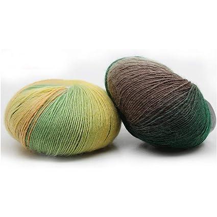Geshiglobal - Ovillos largos de lana para tejer sombreros, bufandas y gorro 2#