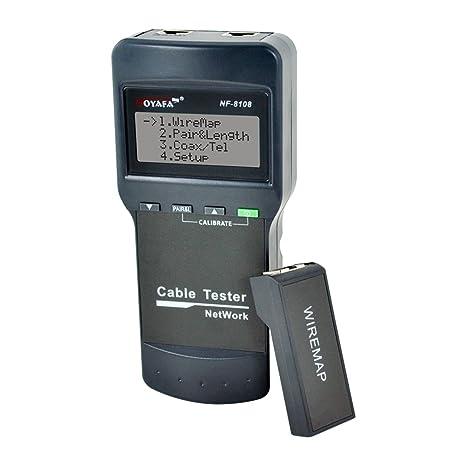 Noyafa NF-8108 Pantalla LCD multipropósito Cable de red Punto de corte Detector de longitud