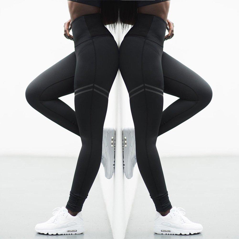 Mujeres Cintura El/ástico Pantal/ón Transpirables Casual Aptitud Deportivos Leggings Pantalones con Cintura Alta Pantalones de Ch/ándal Mxssi Tallas Grandes Pantalones Deportivos