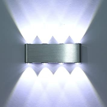 Amzdeal® Modern 8 LED 8W Up Down Wall Lights For Living Room, Bedroom,