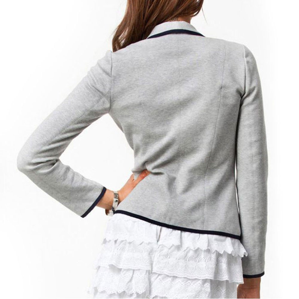Kimloog Womens Casual Work Office Blazer Long Sleeve Slim Button Pockets Jacket
