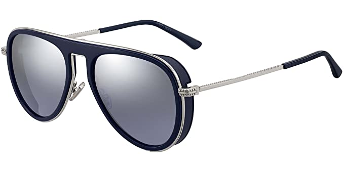 9714442a793 Lunettes de Soleil Jimmy Choo CARL S BLUE GREY homme  Amazon.fr ...