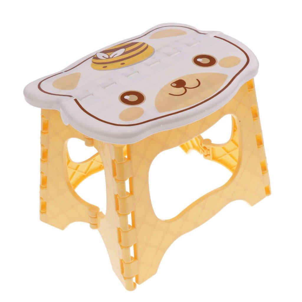 Gelb Baoblaze Cartoon Kleine Hocker Flatbar Klapphocker Tritthocker Fu/ßbank Kinderhoker Sitzhocker Klappstuhl Kinderzimmer Dekoration