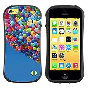 """Hypernova Slim Fit Dual Barniz Protector Caso Case Funda Para Apple iPhone 5C [Globos Hasta Cielo historieta del verano azul""""]"""