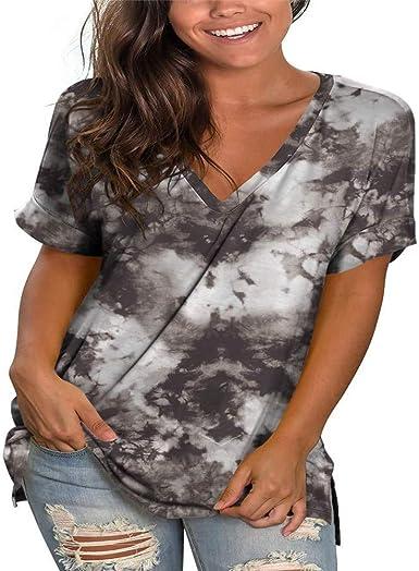ZFQQ Camisa de Verano para Mujer pequeña Margarita Estampada Cuello Redondo Suelta Camiseta Casual de Manga Corta: Amazon.es: Ropa y accesorios