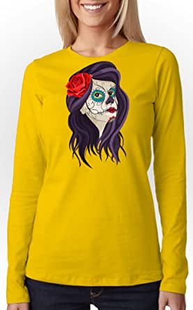Art Gallery Misr Printed Mexican Lady T-Shirt Long Sleeve