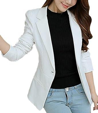 Mujer Traje de Abrigo Otoño Hipster Informales Oficina Basic Camisa Manga Larga Slim Fit De Solapa Elegantes Negocios Party Cóctel Blazer Outerwear Ropa: Amazon.es: Ropa y accesorios