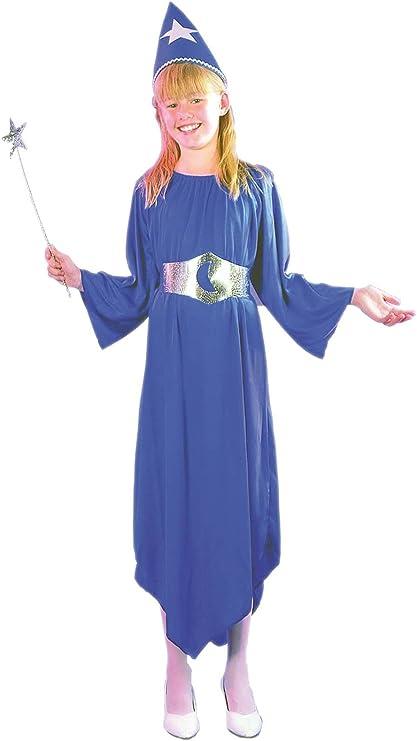EL CARNAVAL Disfraz Hada Maga niña Azul Talla de 4 a 6 años ...