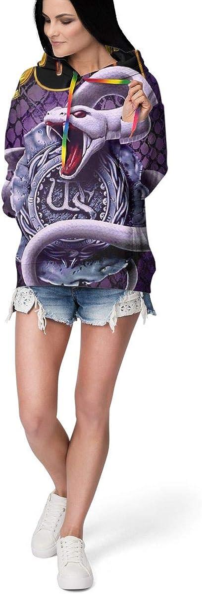 Womens Cool Print Pullover Leisure Plus Velvet Hoodie