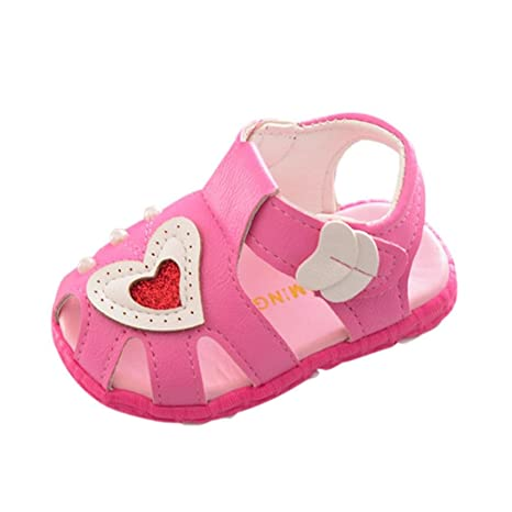 Verano Zapatos Para Bebé Niñas Zapatos de Primeros Pasos Antideslizante Zapatos de Niñito Casual Suela Blanda
