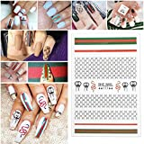 5 Sheets 3D Nail Stickers Designs Ultrathin Logo