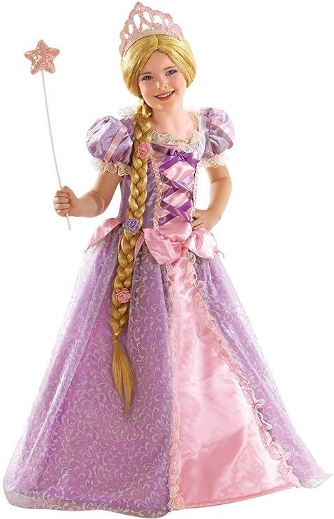 bel design metà fuori nuove foto Vestito Carnevale Deluxe Rapunzel Taglia 3 4 Anni: Amazon.it ...