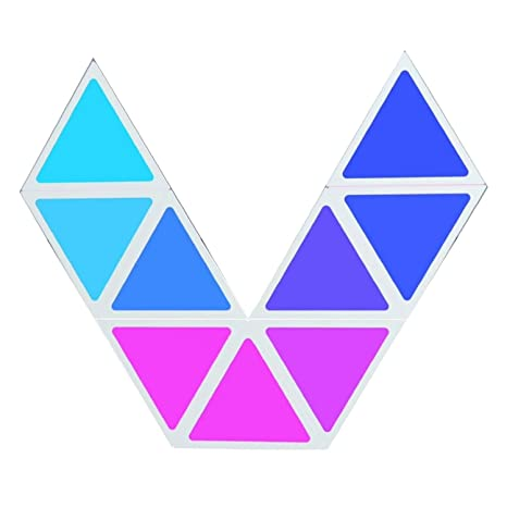 Brione Smart Led Light, Rgb Glow Night Lights For Room/Party/Wall/Ceiling Decoration Lighting Decor Homekit Multicolor Triangle Panel Adjustable Lamp Ios Android Bluetooth Gift   App Control by Brione