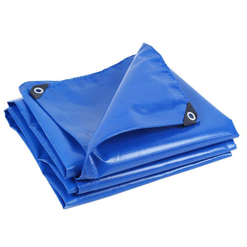 タープ ターポリンヘビーデューティー防水シートタープシートレインカバータープ - ブルー、650g /m²、厚さ0.6mm (サイズ さいず : 5 m x 6 m) 5 m x 6 m  B07KXNB8JW