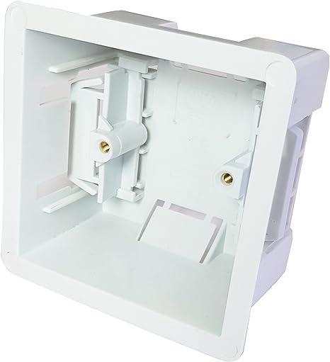 Loops 47 mm de Profundidad, Caja Trasera de Yeso – un Solo Forro seco para empotrar/empotrar para Paredes de Yeso/Yeso, Placas faciales y enchufes: Amazon.es: Electrónica