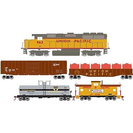 Amazon com: Roundhouse Athearn HO Iron Horse Train Set, UP: Toys & Games