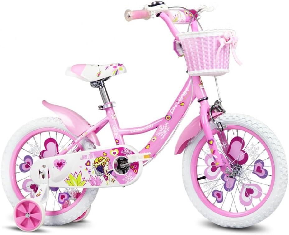 Xiaoping Bicicleta para niños, bicicleta de niña de 3 a 8 años, rosa