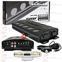 Audiopipe Car audio Class D amp 1-Channel Mono block Amplifier with bass knob + Squash Air Fresheners