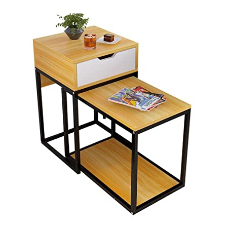 K-Y Mesa Centro Mesa Auxiliar End Table 2-Pack, Mesa de Centro de ...
