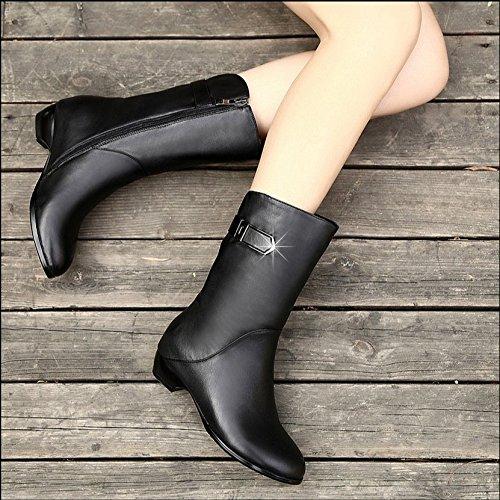 Cortas Piry Botas Botas De Invierno Botas Botas Basta Una Bota Martin Con KHSKX Sola Baja Con Botas Zapatos Mujer De De RO6qExxSw