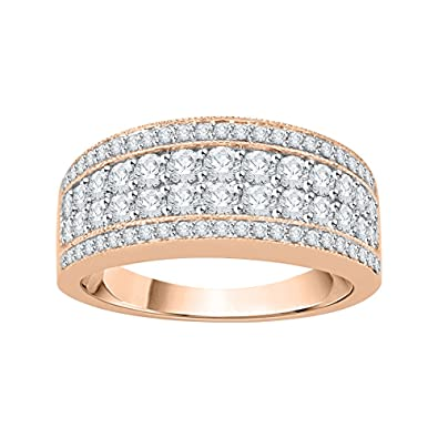 1//10 cttw, G-H,I2-I3 Diamond Wedding Band in 10K White Gold Size-4.25