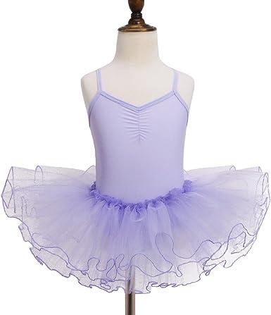 UK Girls Gymnastics Ballet Dress Kids Leotard Bosysuit Dance Ballerina Costume