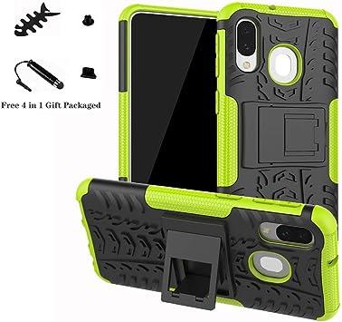 LiuShan Galaxy A40 2019 Funda, Heavy Duty Silicona Híbrida Rugged Armor Soporte Cáscara de Cubierta Protectora de Doble Capa Caso para Samsung Galaxy A40 2019 /SM-A405FN Smartphone,Verde: Amazon.es: Electrónica