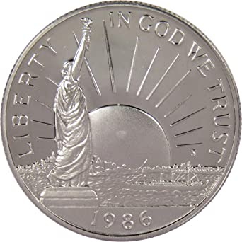 1986-S PROOF STATUE OF LIBERTY HALF DOLLAR COIN