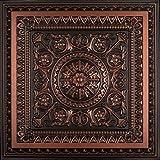 La Scala-Faux Tin Ceiling Tile - Antique Copper 25-Pack