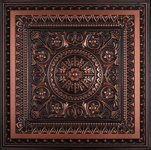Antique Ceiling Tiles - La Scala-Faux Tin Ceiling Tile - Antique Copper 25-Pack