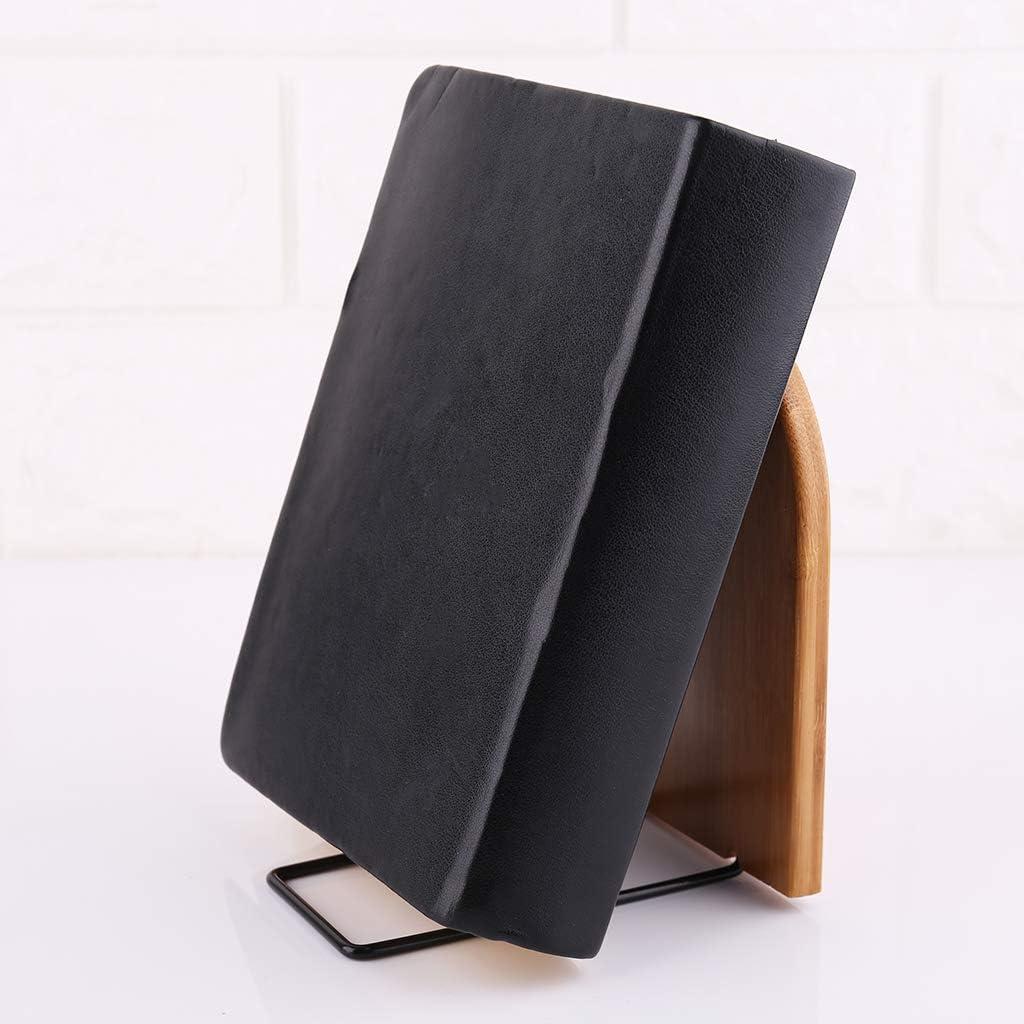 shaoyanger Nature Bamboo Desktop Organizer Office Home Bookends Book Ends Stand Holder Shelf Bookrack L
