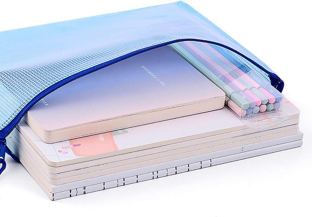 A3//A4//A5 Plastic Zippy Bags Zip File Storage Document Folder Protective Wallet