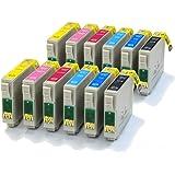 12 Compatible Printer Ink Cartridges fit Epson Stylus Photo 1400 & 1500W ( T0791, T0792, T0793, T0794, T0795, T0796 )
