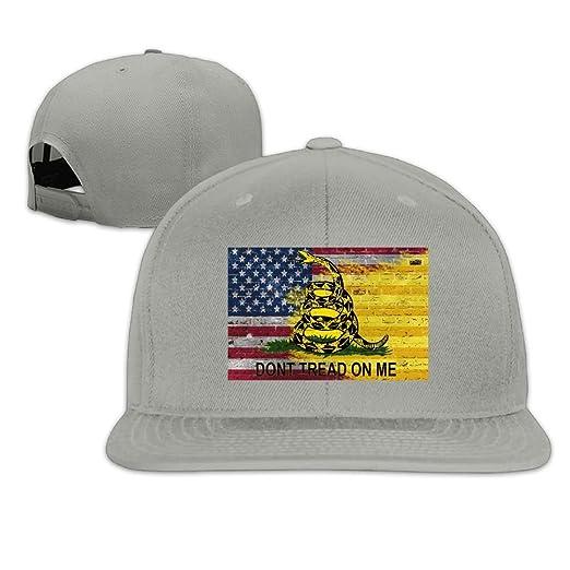 Adult Snapback Hat, Fashion Don't Tread On Me American Flag