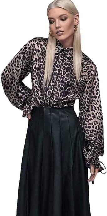 Lola Casademunt Camisa Animal Print para Mujer 40: Amazon.es: Ropa y accesorios