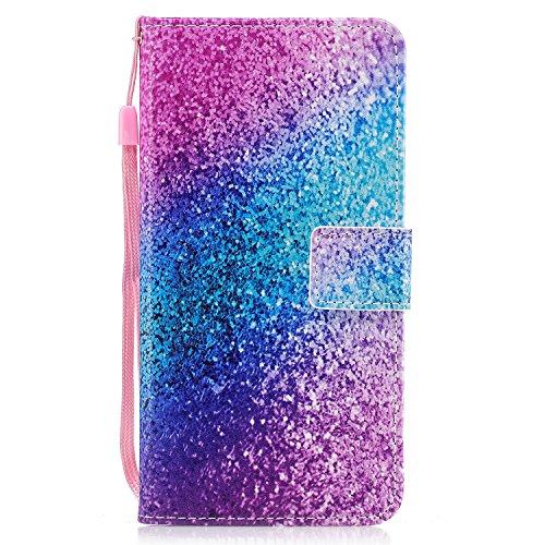 - iPhone 8 Plus Case, iPhone 7 Plus Case [Wrist Strap], MerKuyom [Kickstand] Premium PU Leather Wallet Pouch Flip Cover Case For Apple iPhone 7 Plus / iPhone 8 Plus, W/ Stylus (Colorful Spots Speckles)