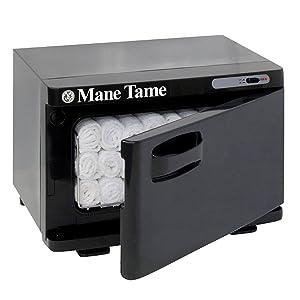 "Mane Tame Professional Barber Mini Towel Warmer - Pre-Hot Towel Facial Shave Mini Cabinet comfortably fits (11) 15"" x 28"" Towels"