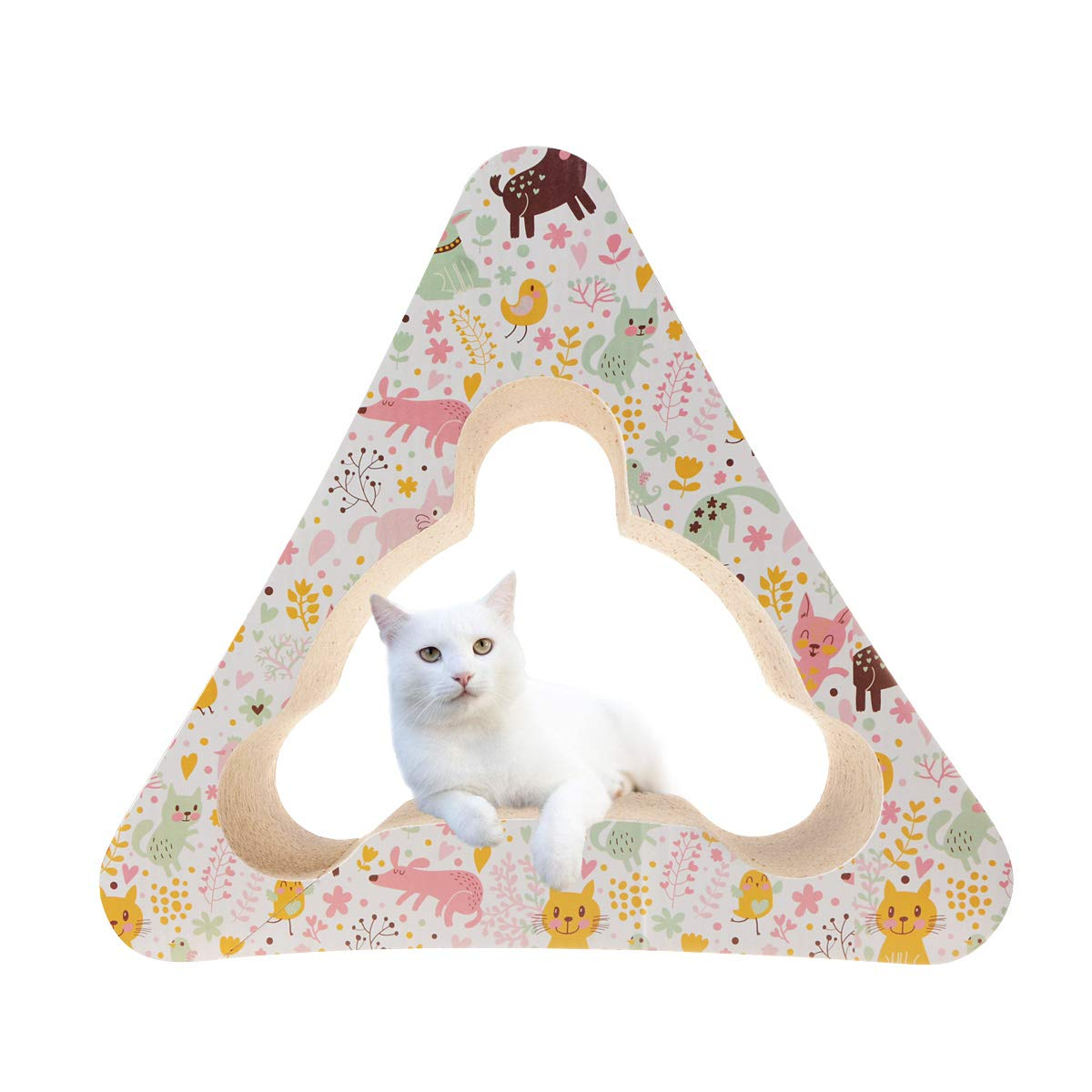 MXCELL 3-Sided Vertical Cat Scratching Post Multiple Scratching Angles to Match Your Cat's Preference by MXCELL