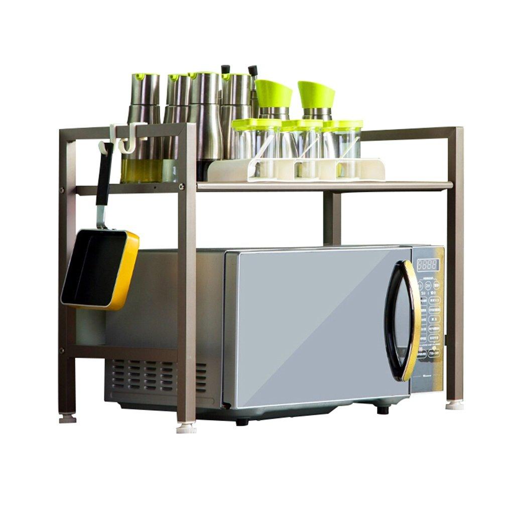 Scaffale da cucina/porta forno a microonde/portaoggetti da cucina in metallo/porta spezie per spezie portaspezie/champagne oro JU JU UK