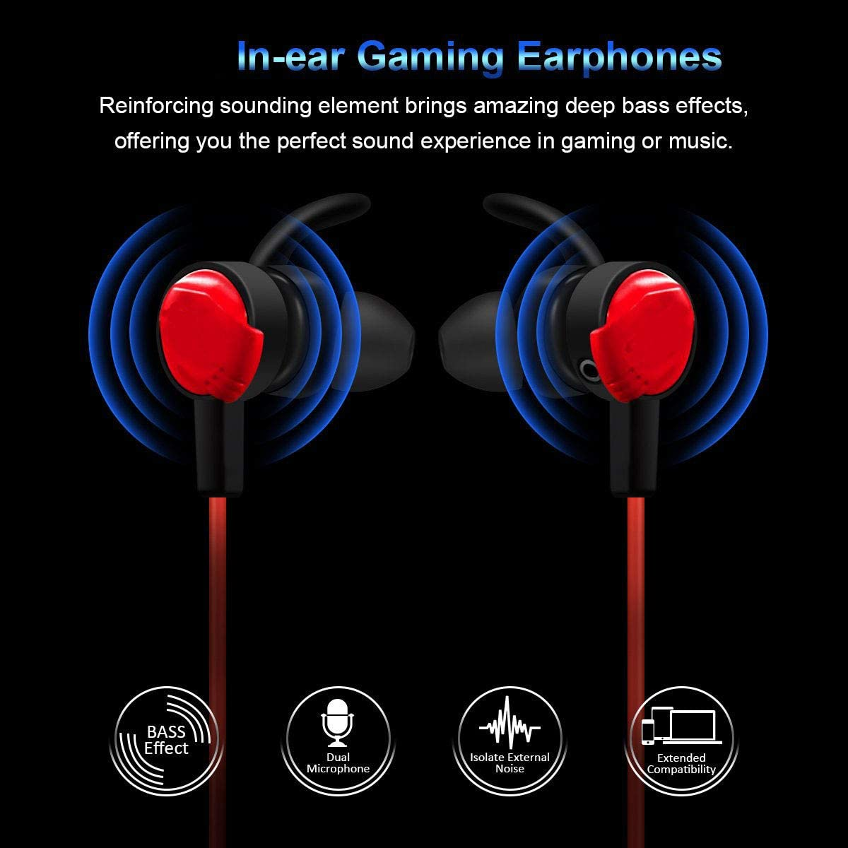 ZDZHU Gaming Headset with Microphone Gaming Headphone 3.5mm Stereo Over-Ear Surround Sound Headphone for PS4 Xbox 1 Laptop Tablet Mobile Phones PC